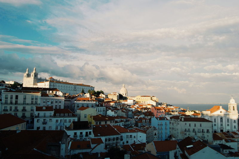 View over Alfama Lisbon EyeEm Selects Lisbon City Life Lisbon Streets Lisboa Portugal Lisbon - Portugal LisbonLight Lisbonne Lisbonlife City Cityscape Sky Architecture TOWNSCAPE Rooftop Town Tiled Roof  Residential District Old Town Urban Skyline Human Settlement Residential Building