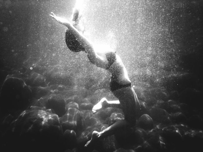 Underwater Blackandwhite Bubbles Mission Mystery