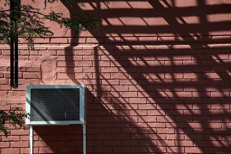 Afternoon Shadows II Air Air Conditioner Air Conditioning Units Airconditioning Architecture Brick Wall Brick Wall Bricks Bridge Building Built Structure City Day Growth Modern No People Outdoors Shadowplay Shadows Stairs Summer Shadows Sunset Wall