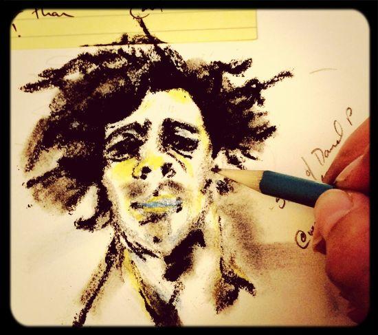 Study of Daniel P Charcoal Art Drawing