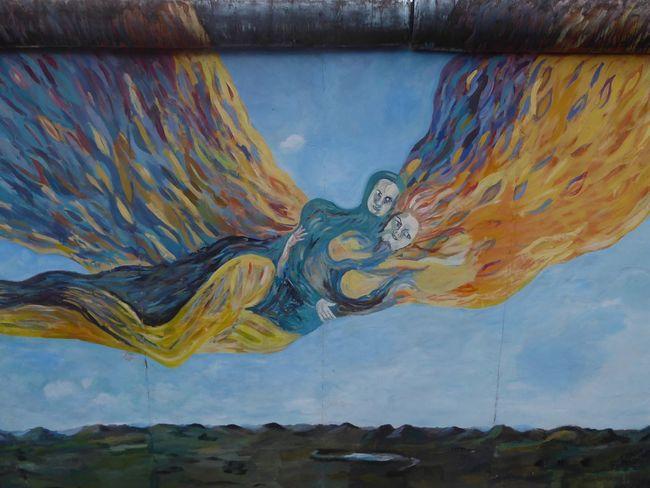 Take me Flying Fly Me To The Moon Your Ticket To Europe East Side Gallery Berlin Berlin Wall Mural Mural Art Streetart Grafitti Graffiti Art for Berlintourist Berlin Photography Art Is Everywhere The Week On EyeEm Berlin Love Berlin Love
