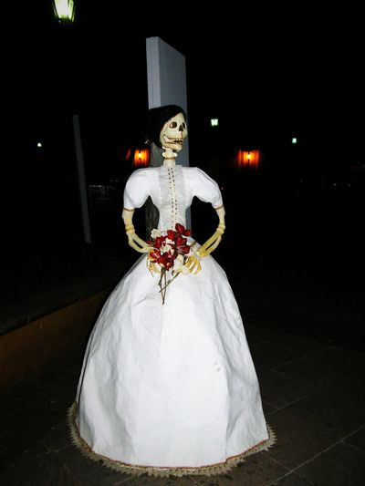 Celebration Wedding Adults Only Adult Cultures Arts Culture And Entertainment Night Tradition Catrina Day Of The DeadOne Woman Only Women Catrina One Womanonly Young Adult People Only Women Wedding Dress One Person Day Of The Dead Dead Art Gallery Art