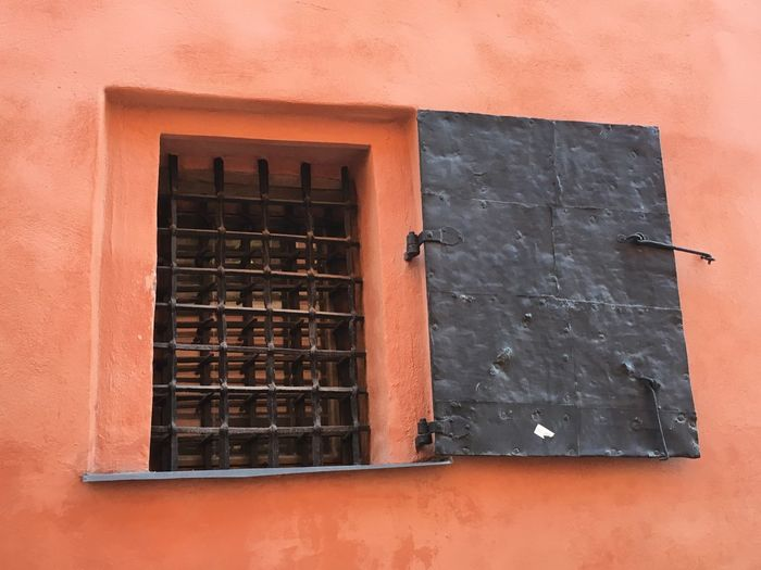 Window Architecture Built Structure Building Exterior Close-up Red Day Weathered Outdoors Window Frame No People