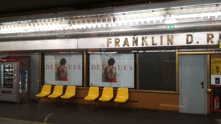 Franklin Roosevelt. Metro Paris Streetphotography Subway Metro Paris Underground Streetphotography Street Street Photography Beauty Beauty In Ordinary Things Men Business Finance And Industry Subway Platform Subway Station