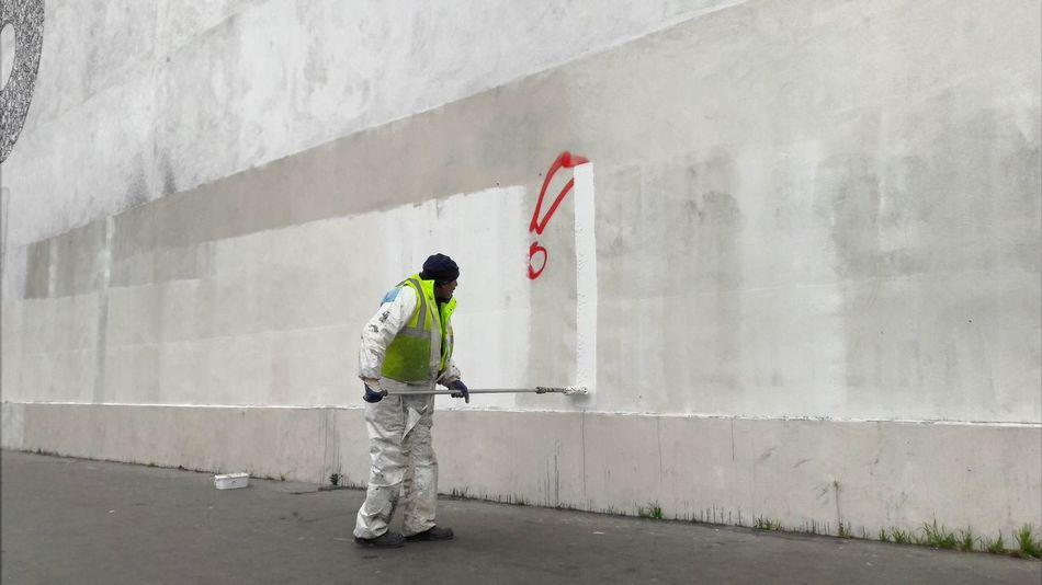 Exploring Style One Person Day Outdoors Paint White Collection WhiteCollection White Background Wall One Man Only Working Concrete