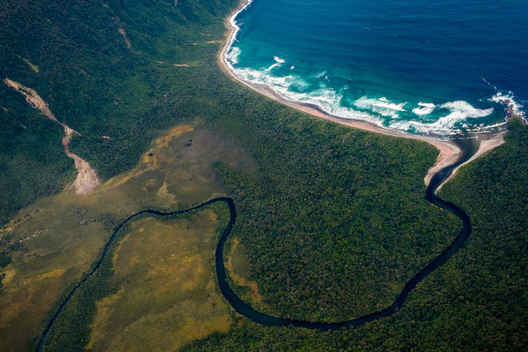 Water Nature Ocean Sea River Landscape Beach Aerial View Beauty In Nature No People Green Color Land Day High Angle View Outdoors Environment Scenics - Nature Tree Plant Curve Growth Coast Aerial Travel