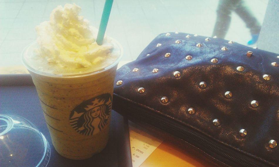 그린티프라프치노+자바칩 Starbucks