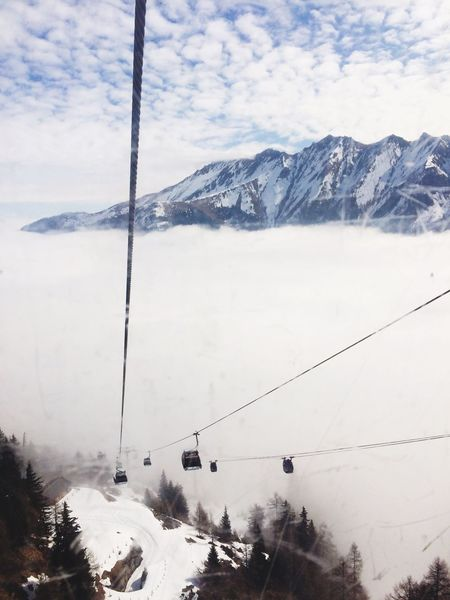 Snow Winter Cold Temperature Weather Nature Mountain Scenics Beauty In Nature Transportation Snowcapped Mountain Sky Landscape Ski Lift Frozen Mode Of Transport Overhead Cable Car Mountain Range Tree Day Cable Kitzsteinhorn Austria 3029m