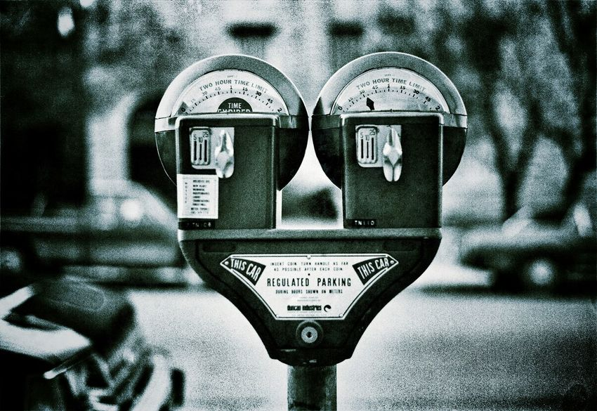 City parking meter Eyeem Monochrome Black&white Black And White Eye4photography  Getting Inspired Taking Photos Parking Meter EyeEm Best Shots - Black + White EyeEmBestPics Shootermag Blackandwhite Photography Two Blackandwhite Black & White Black And White Photography City Life City City Street Tinted Tinted Photograph Parking Lot Parking Meter Streetphotography Street Photography