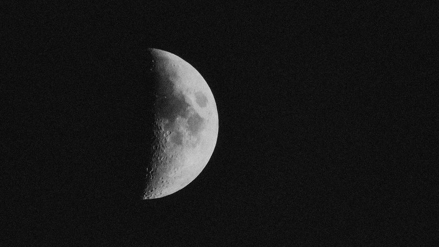 Astronomy Moon Night Beauty In Nature Half Moon Space Exploration Nature Moon Surface Scenics Tranquil Scene Crescent Clear Sky No People Low Angle View Sky Outdoors Planetary Moon Tranquility Space EyeEmNewHere