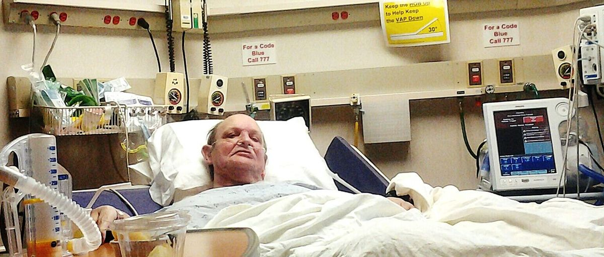 The Human Condition My father. In Methodist hospital's Critical Cardiac Unit. The day before his last on earth.
