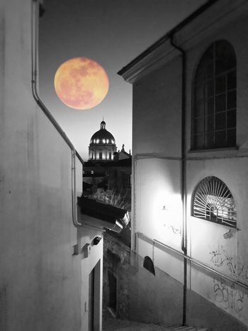 In-between Black And White B&w Streetphotography Street Photography Moon Night No People Cityscape City Alley Urban Photography View From The Top Urban Skyline Black & White Dome City View  From My Point Of View Cathedral Architecture Buildings Double Exposure B&W Magic