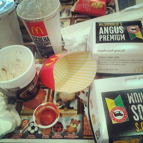 Check Mate! Ja Era estou estourando... O.o McDonald 's AngusBacon Omelhor Estourando Cheio Ourinhos