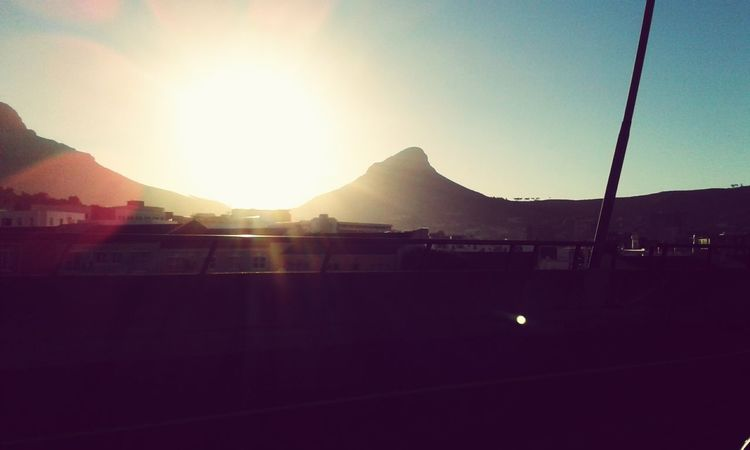 Let the sun come shining through. Sunlight Lifeincolour Beauty In Nature Sky Day Mountains Cape Town Lionshead Tablemountain