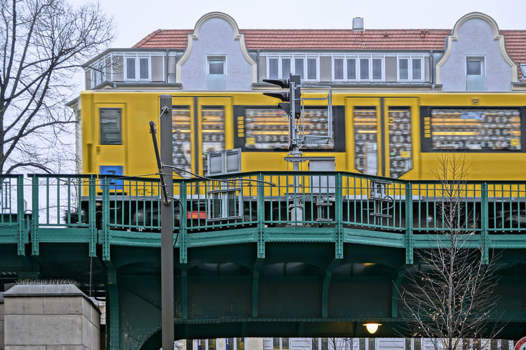 Architecture Building Building Exterior Built Structure City Life Exterior Façade No People Outdoors Prenzlauer Berg Residential Building Schönhauser Allee Train Travel Destinations U-Bahn Ubahn Viaduct Viadukt Yellow Zug