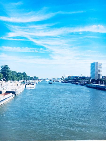 Ville France Paris, France  Paris EyeEm Selects Water Sea Building Exterior Sky Architecture Built Structure City Waterfront Cloud - Sky Nautical Vessel Scenics - Nature Nature Beauty In Nature Day Blue Building No People Mode Of Transportation Transportation Outdoors