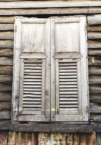 Old Wooden Window Wood - Material Wooden Closed Building Exterior Architecture House No People Outdoors Close-up Day Window Wooden Window Window Frame Window Pane Window Photography Old Wood Old Wooden Window Old House Thai Architecture Thai House Old Town Vintage