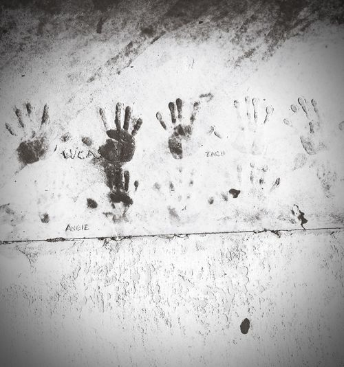 Made my mark forever. Handprint Cement Lazy Afternoon