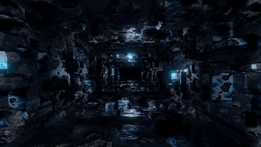 Blue energetic Rost tunnel Lost Place Lost Places Blue Tunnel No People Architecture Built Structure Wall - Building Feature Backgrounds Night Illuminated