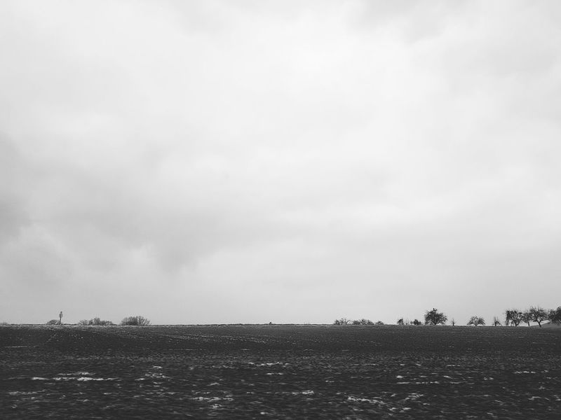 Black And White Art Photography Art Is Everywhere Card Design On Tour While Driving Landscape Field Agriculture Cold Days Winter Wintertime No Snow In Winter No Snow  Winterscapes Clouds And Sky Outdoors Sky Cloud - Sky Nature Day Beauty In Nature Scenics