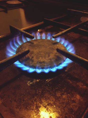 Keeping with tradition! Heat - Temperature Flame Gas Stove Burner Close-up