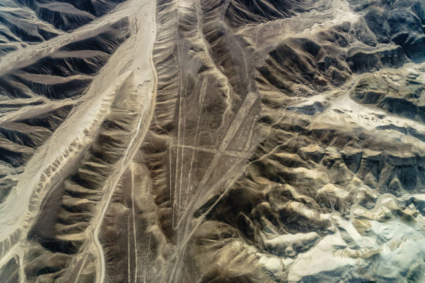 Above Alien America Ancient Cessna Culture Desert Geoglyph Geometric Shapes International Landmark Lines Nasca Lines NASCAR Nazca Nazca Lines Peru Plane Plateau Shapes South Travel Travel Photography UNESCO World Heritage Site Landscapes With WhiteWall A Bird's Eye View