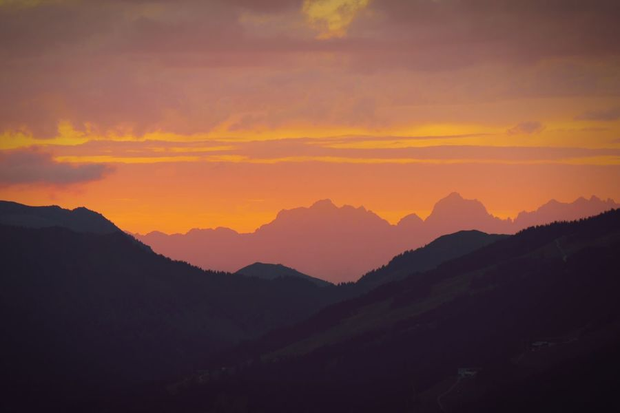 Mountain Nature Sunset Beauty In Nature Silhouette Tranquility Tranquil Scene Mountain Range No People Sky Outdoors Landscape Scenics Austria Kitzbüheler Alpen Mountains Alps Mountains And Sky Naturelovers EyeEm Best Shots EyeEm Nature Lover Evening Sky Sundown Power In Nature Red Sky