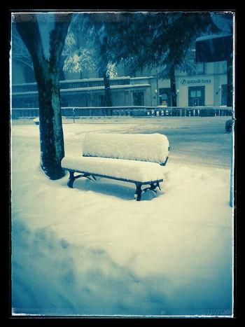 Neve, snow, panchina, nevicata, Porretta terme, alto Reno terme, chair Cold Temperature Winter