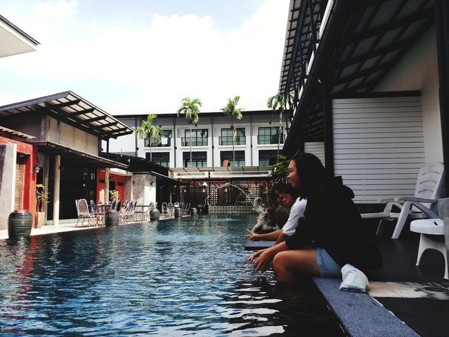 Water Full Length Sitting Sky Architecture Building Exterior Built Structure
