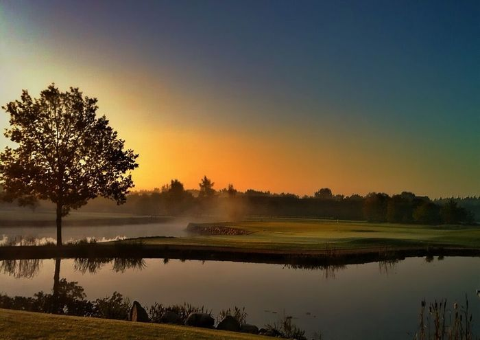 """Foggy morning at 18th"" photo by my dear friend @kimgolf85, edit by me!"