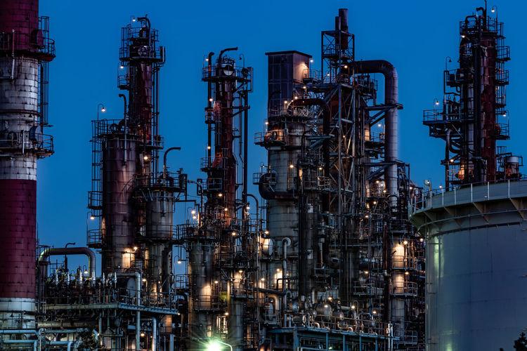 Industry Light Plant Dust Dusty Energy Factory Night