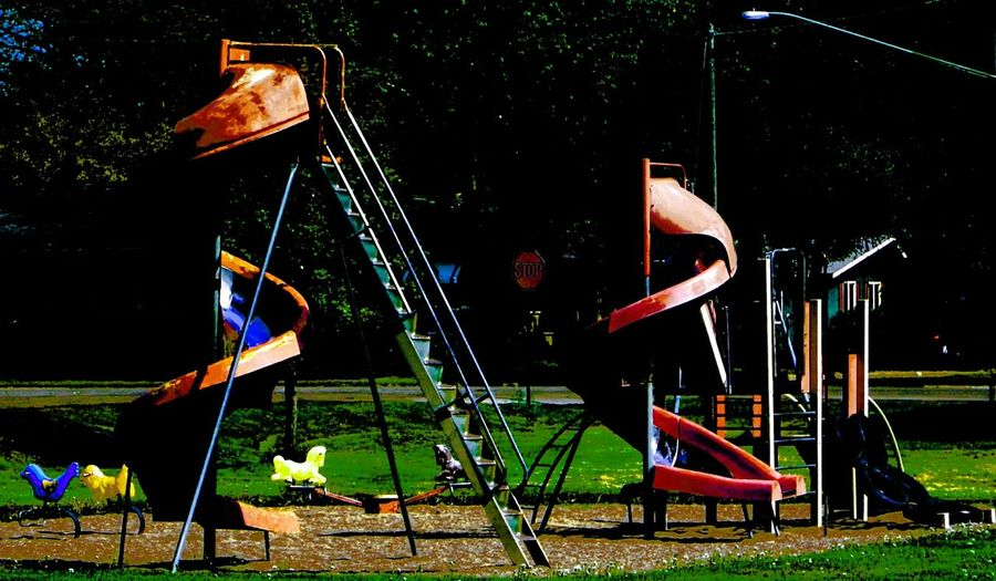 Double Helix Slide Park Helical Coil Twisting