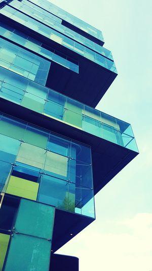 Lookingup Urban Geometry Blue And Green