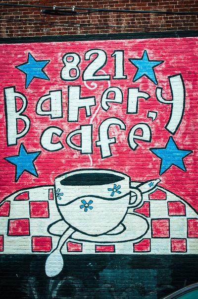 Richmond, VA USA Street Art Art Bakery Cafe Coffee Graffiti Multi Colored Richmond, VA Sign VCU VCU Artists Wall Wall Art Wall Sign