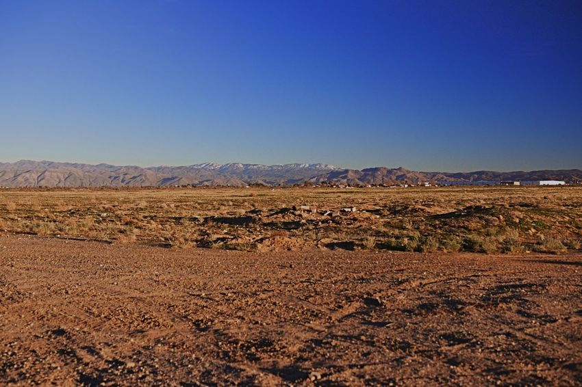 Desert Copy Space Landscape Nature Blue Tranquil Scene Tranquility No People