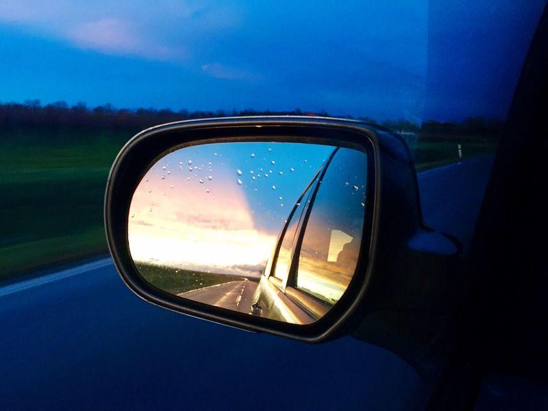 Rain Rainy Days Street Car Mirror Picoftheday Sunset