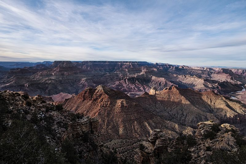 Idyllic Shot Of Dramatic Landscape At Grand Canyon Against Sky