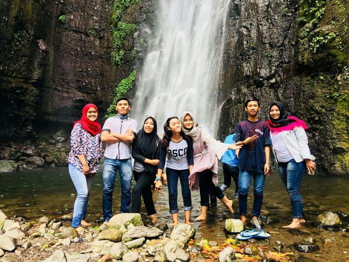 EyeEmNewHere Friendship Fun Happiness Outdoors Waterfall Trip