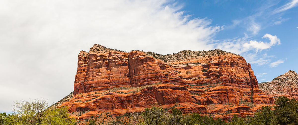 Ancient Ancient Civilization Cloud Cloud - Sky Day Famous Place History Low Angle View Mountain Mountain View Nature No People Orange Mounrtain Outdoors Re-orange Sandstone Red Butte Rock Formation Schnebly Hill Formatio Sky Supai Group The Past Tourism Tranquility Travel Destinations