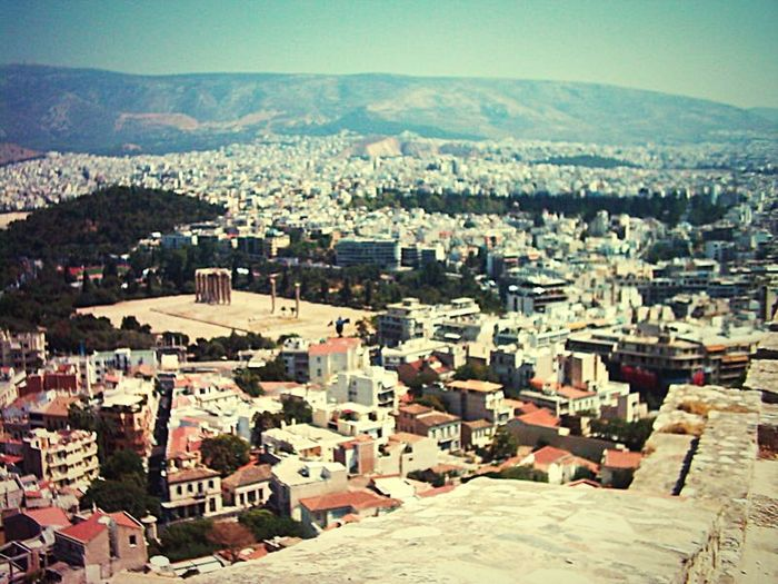 Athens, Greece Athen City Athens From Akropolis ,love Athens