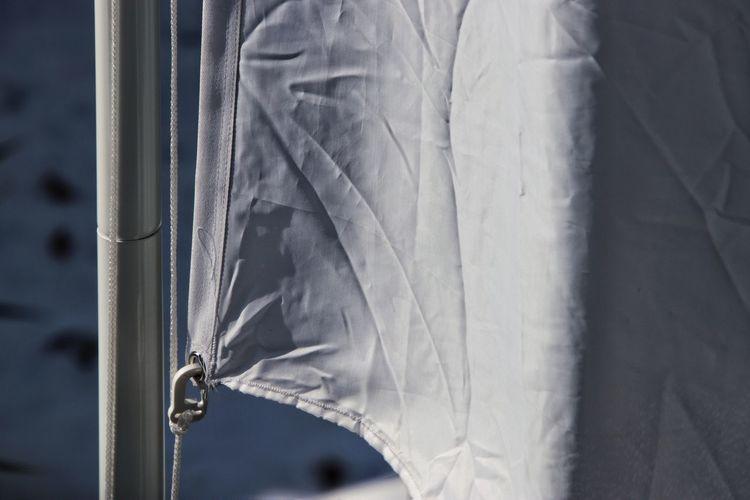Close-up of flag on flagpole
