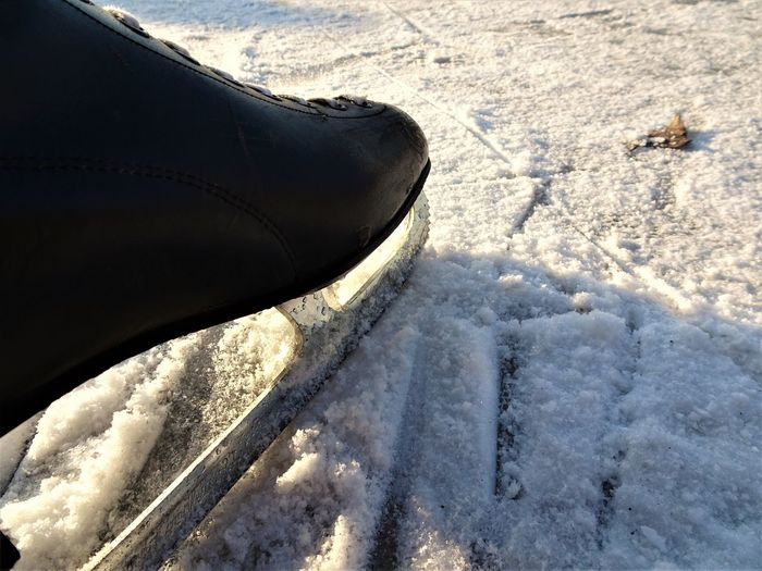 Cold Temperature Day Ice Ice Skating Ice Skating Shoes Nature Outdoors Shoe Snow Standing Winter Winter Winter Sport