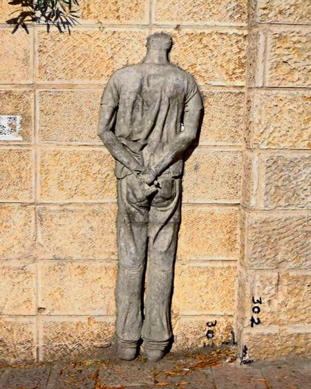 The Architect - 2015 EyeEm Awards Israel Israelinstagram Jerusalem Sculpture Urban Sculpture Wall Wall Art Headless Art