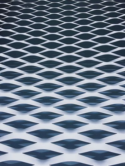 Geometric Shape Pattern West Bund Shanghai West Bund Shanghai, China Shanghai Contemporary Architecture Modern Architecture Wall Wall - Building Feature Wall Feature Wall Exterior Cladding Mesh Waves Backgrounds Full Frame Pattern No People Indoors  Aluminum Day Brushed Metal Close-up Shades Of Winter The Graphic City Colour Your Horizn The Architect - 2018 EyeEm Awards