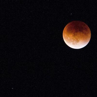 La luna bajo un cielo estrellado Moon Increiblevzla Photooftheday Photo Eclipse Canon Venezuelaforum
