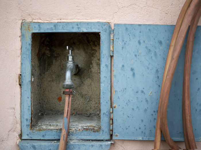 Water pipe on wall