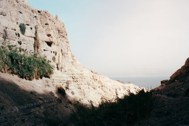 Rock formations on mountain