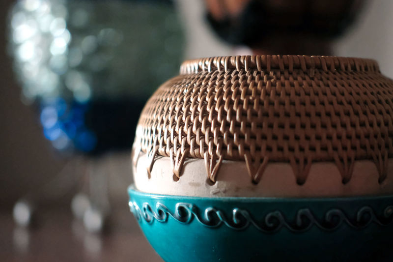 Art And Craft Rattan Close-up Container Creativity Design Focus On Foreground Gift Handicraft Indoors  Memorabilia Pattern Souvenir Still Life Tourism Weaving
