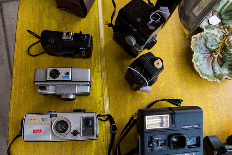 Camera Camera - Photographic Equipment Digital Single-lens Reflex Camera Film Car Large Group Of Objects Photographic Equipment Photography Themes Still Life