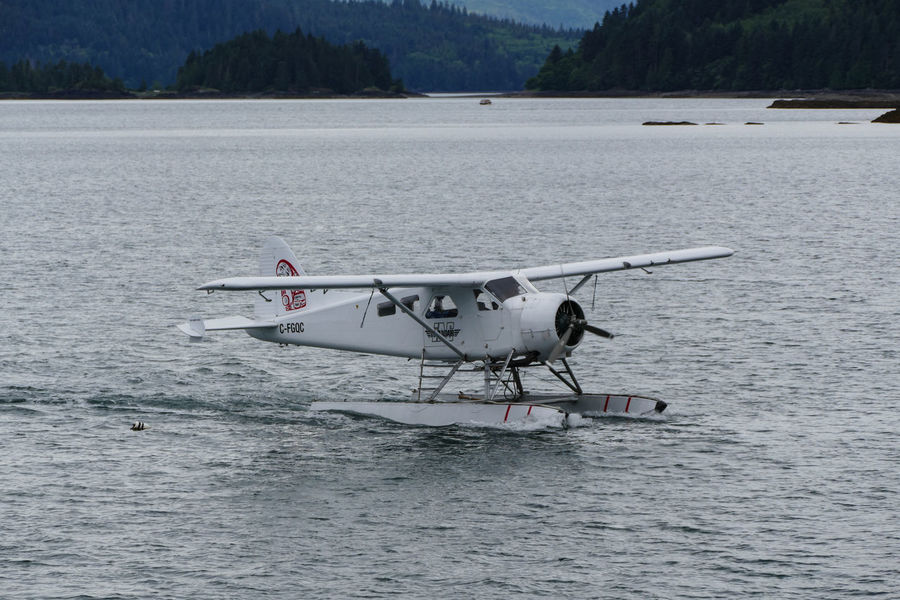 Beauty In Nature Day Explorebc Float Plane Haida Gwaii Mode Of Transport Mountain Nature Nautical Vessel No People Outdoors River Scenics Sea Plane Sky Transportation Travel Photography Water Waterfront